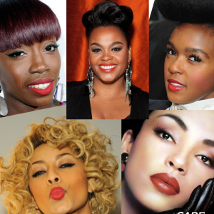 GORGEOUS BLACK WOMEN ROCKING THE BOLD LIP