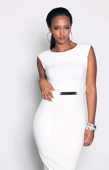 AX Paris White Wet Look Midi Belted Dress Cost 38GBP (N10,000). Available UK Sizes: 8-14