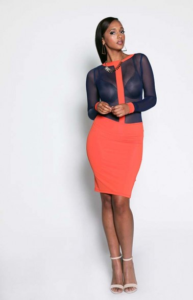 Sheer Ryder Top & Nina Pencil Skirt Set (2PC) Cost 95GBP (N26,000). Available UK Sizes: 8-12