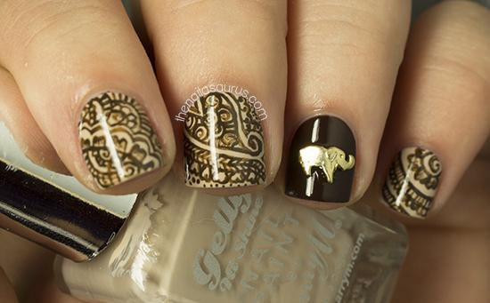 Nail art viviannesblog day15delicateprint02 prinsesfo Choice Image