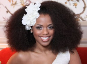 Afro for a lovely bride