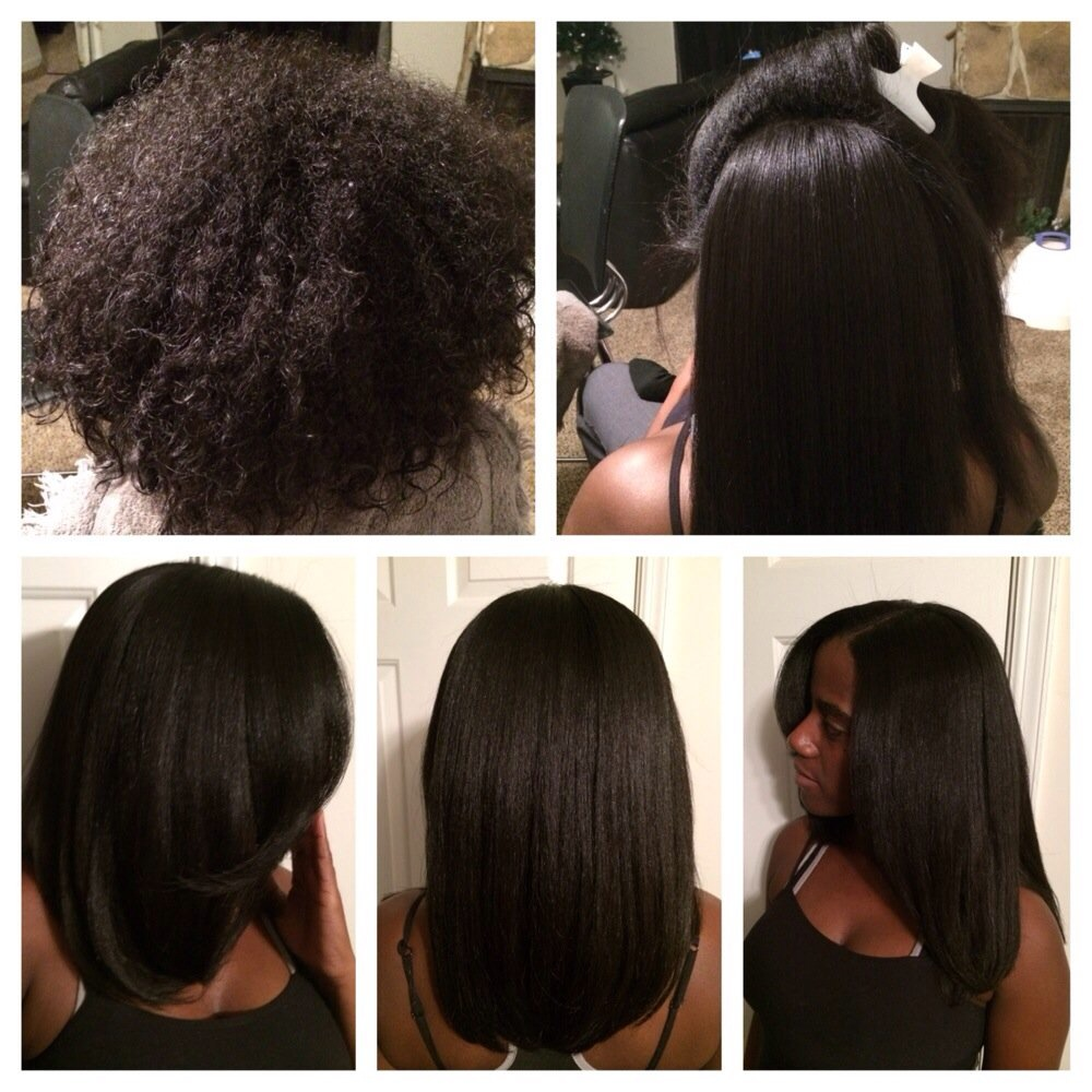 Thermal Straightening African American Hair Hairstyle